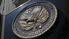 The seal affixed to the front of the Department of