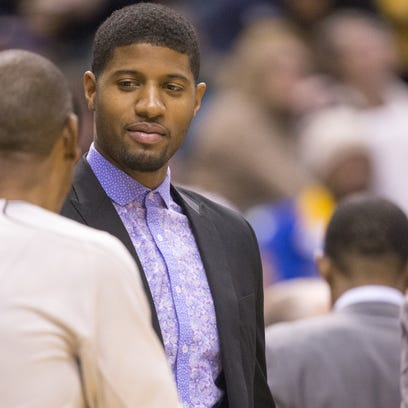 Paul George has been out since breaking his leg Aug.