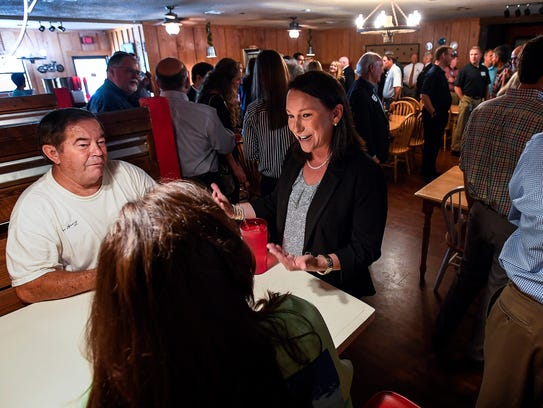 U.S. Representative Martha Roby meets with locals during
