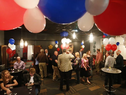 Several candidates attend a watch party Tuesday evening