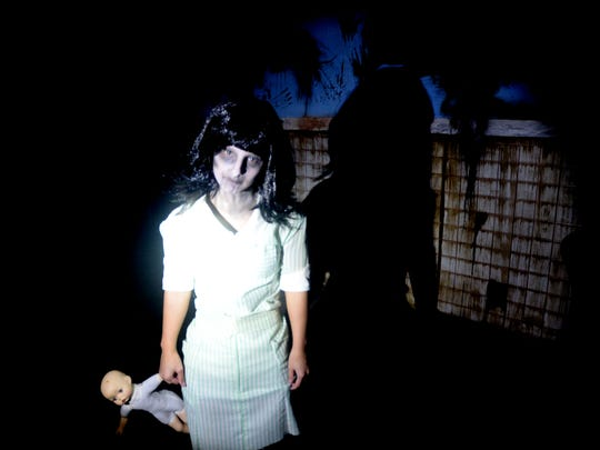 Shelby Heidleberg plays a scary character at the 2014