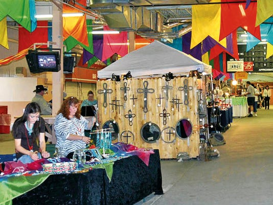 Arts, crafts, clothing, jewelry and more — all New Mexico-made — are featured inside the grandstand during Zia Festival weekend.