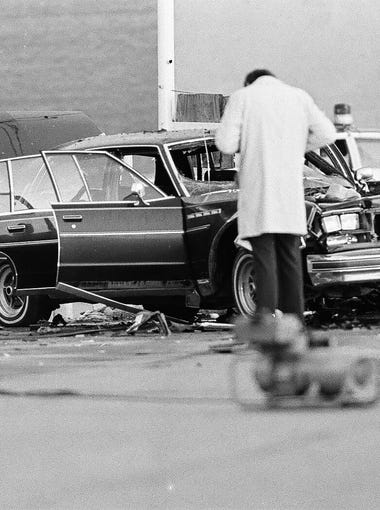 "Salvatore ""Sammy G."" Gingello, Rochester's most notorious mobster, was killed after a bomb detonated beneath his Buick Park Avenue sedan in downtown Rochester on April 23, 1978."