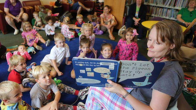 Children attending a Preschool Storytime event at Loveland Branch Library.