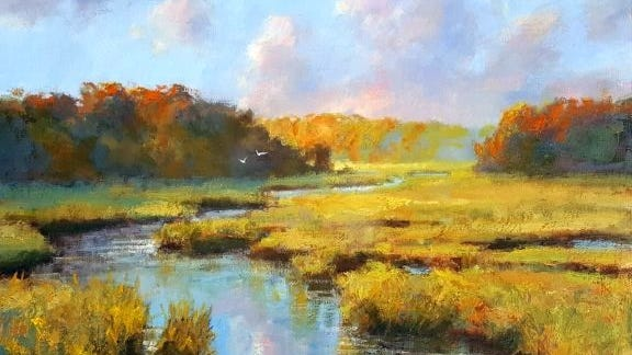 'Autumn Flight' by Jonathan McPhillips is among the works available at Addison Art Gallery.