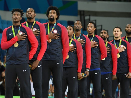 Team USA won gold in men's basketball.