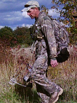 Howell police say the man pictured here stole several hunting tree stands from a property on Maxim Road.