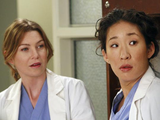 "Meredith (Ellen Pompeo) and ""Grey's Anatomy"" viewers said goodbye to Cristina (Sandra Oh) on Thursday night's episode."