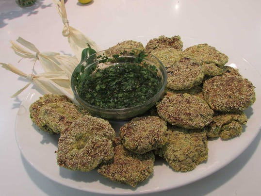 Black Bean Cakes with Spicy Cilantro Sauce (Photo: Sweet Basil Cooking ...