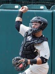 Daulton Varsho is the Visalia Rawhide's starting catcher. He is in his first season with the Rawhide.