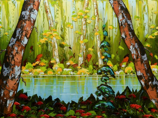 """A Place to Rest"" by Stefan Horik is 24 by 48  inches."