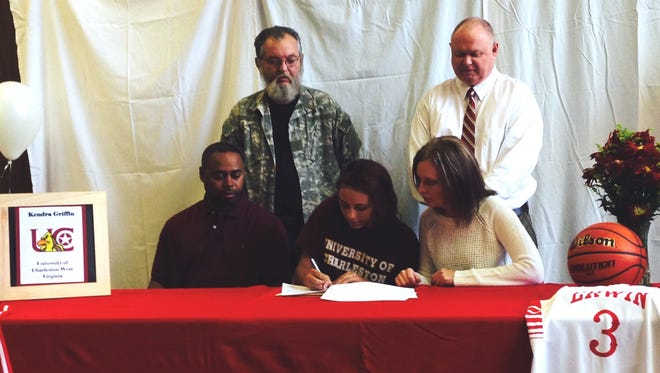 Erwin senior Kendra Griffin has signed to play college basketball for Charleston (W. Va.).