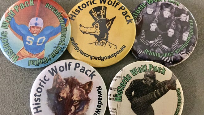 The Wolf Pack will hand out at buttons at its homecoming game Saturday.