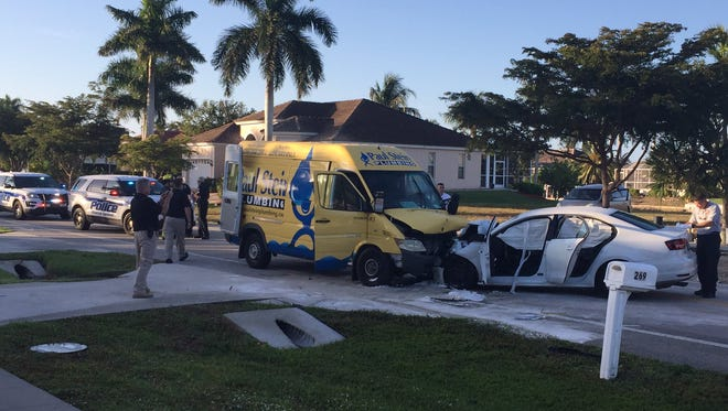 Marco Island Police and Marco Island Fire responded to a two-vehicle crash on Monday at 7:28 a.m. at 269 N Barfield Dr. in  Marco Island