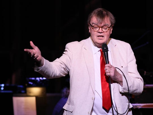 "Garrison Keillor, shown in a live ""Prairie Home Companion"" from Milwaukee's Milwaukee Theater in March 2016, is returning to town for a show at the Back Room at Colectivo in February."