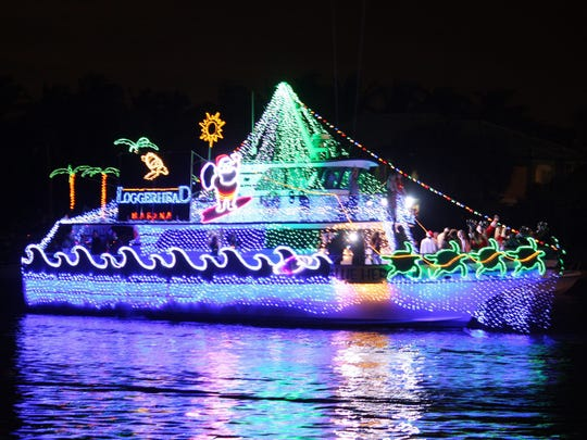 Loggerhead Marina, in Juno Beach, went all-out in decorating their boat in the 22nd annual Palm Beach Holiday Boat Parade on Dec. 3.