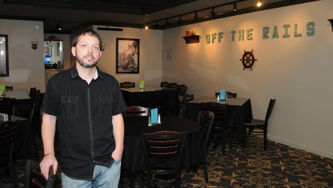 Tommy Coffinberry opened Off the Rails recently on South Main Street in Downtown Dickson.