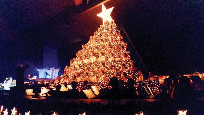 The 21st Annual Singing Christmas Tree will perform Nov. 30 through Dec. 1 at 7 p.m. every night.