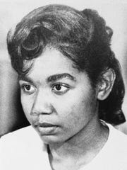 Melba Pattillo Beals in 1957, one of the nine black who integrated Little Rock Central High School while federal troops patrolled the campus.