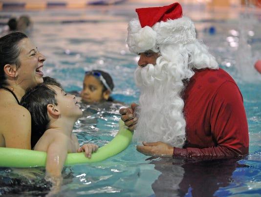 YMCA Swim with Santa