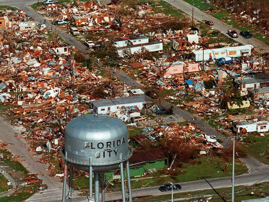 This Aug. 25, 1992, file photo shows the water tower,