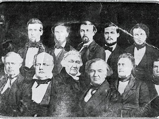 A composite photo of Washington County, Md., physicians shows, left to right, in the bottom row, Dr. James Blair McKee, Dr. Thomas B. Duckett, Dr. Frederick Dorsey Sr., Dr. Charles McGill, Sr. and Dr. Norman Scott; top row, Dr. Ezra Weiss (Wise), Dr. Charles E. S. McKee, Dr. Frederick Dorsey, Jr., Dr. Charles McGill, Jr. and Dr. Samuel S. Lungren. Photo courtesy of Washington County Historical Society