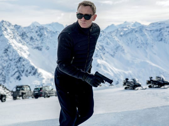 "Daniel Craig appears in a scene from the James Bond film ""Spectre."" The movie took first place at the box office for its opening weekend."