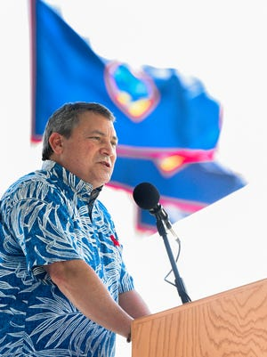 "Gov. Eddie Calvo, in reaction to Fitch downgrading GovGuam Business Privilege Tax bonds, said, ""Fiscal discipline has been a hallmark of my administration."""