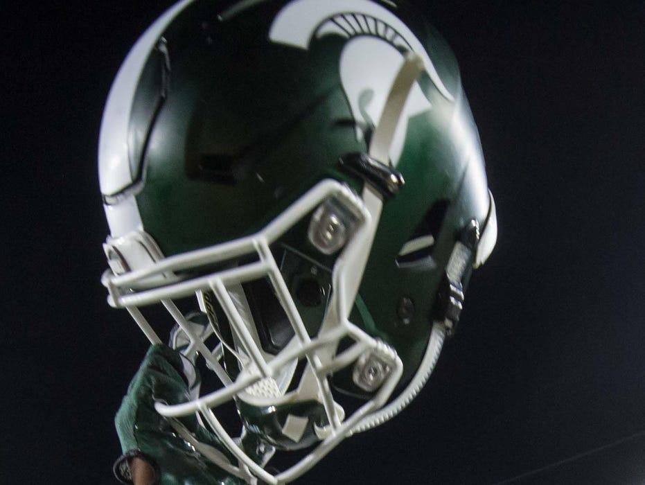 A Michigan State Spartans helmet.