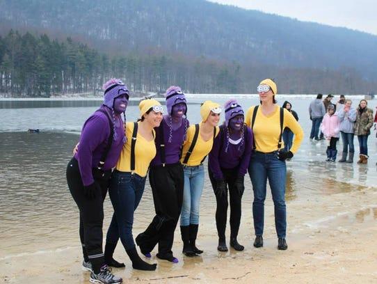 A women's team from last year's Frozen Frenzy, left