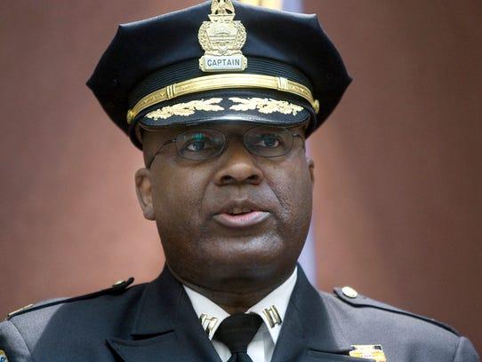 Mayor Linda Thompson anncounced Harrisburg police Capt.
