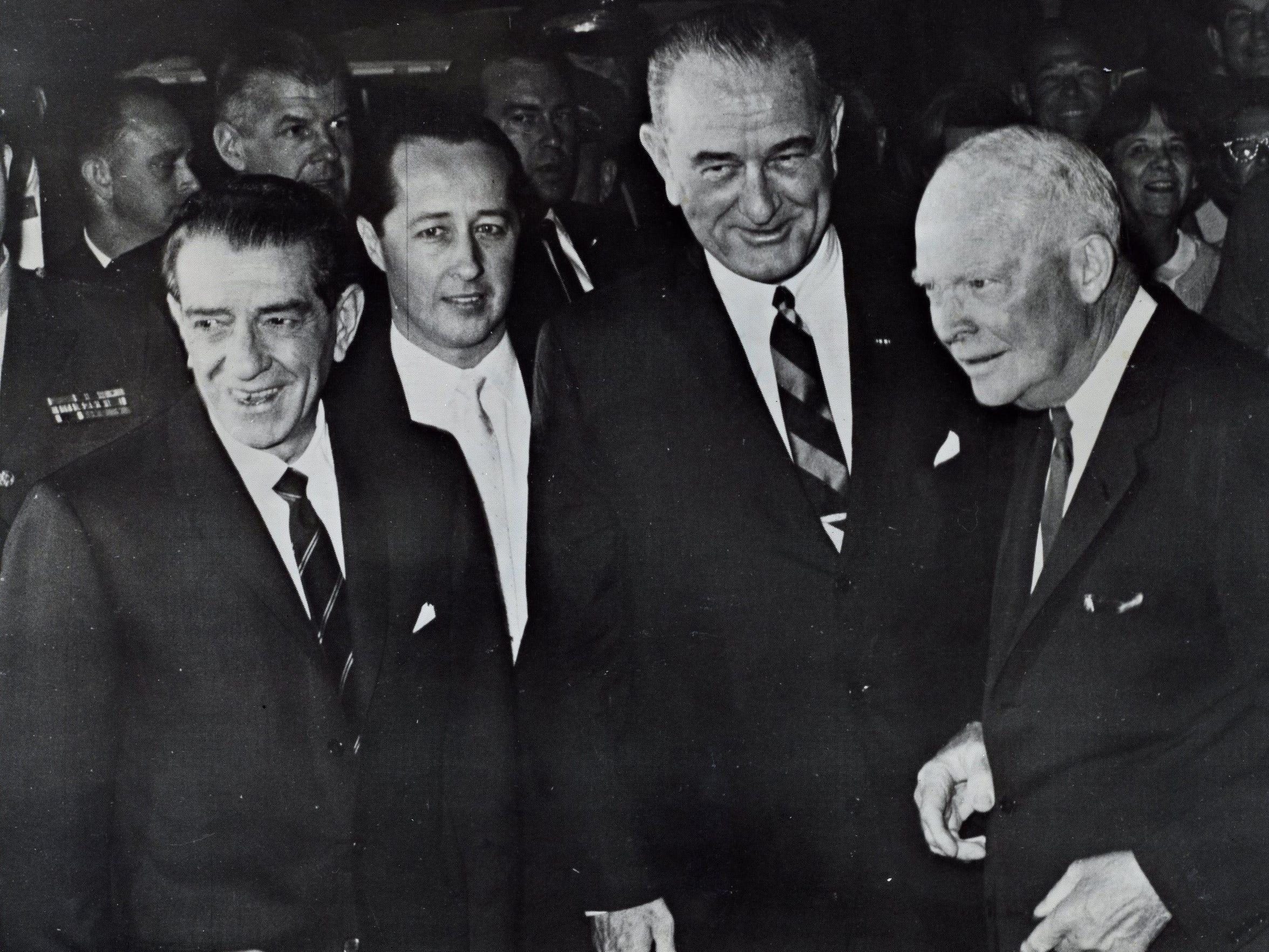 Mexico's President Adolfo López Mateos, unidentified