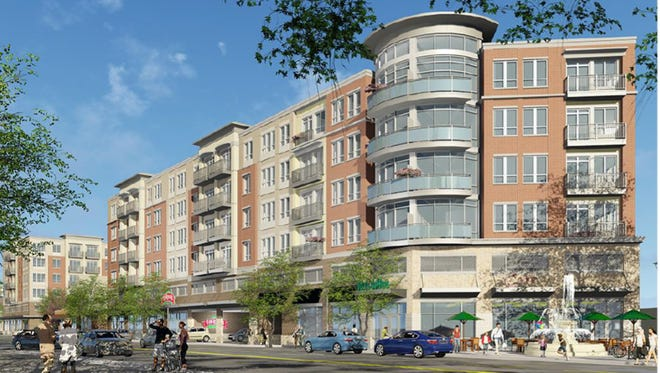 Here's a rendering of what a proposed mixed-use building off Madison Road in Hyde Park could look like.