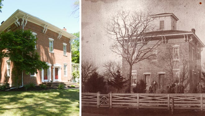 The main difference in the present-day Hartman house on Challis Road in Brighton Township from its original configuration is the absence of the cupola today.