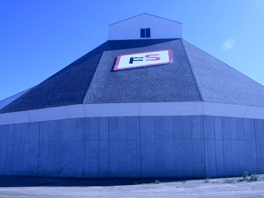 The Insight FS Cooperative's fertilizer storage facility in Antigo provides material for its customers throughout north central Wisconsin and Upper Michigan.