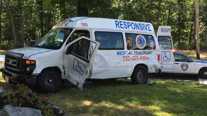 An SUV and an ambulance collided Friday at the corner of Church road and North Bay Avenue, police said. The crash caused the ambulance to run onto the public works building's property.