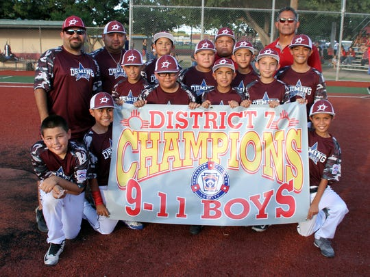 The Deming Major Division (ages 9-11) All Stars captured