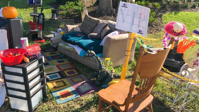 A sofa abandoned near the Walmart in West Melbourne enjoyed a run of viral fame as #TheCouch. Fans stopped by to take photos, drop off accessories from a rug and curtains to a houseplant, and collect food for the South Brevard Sharing Center.