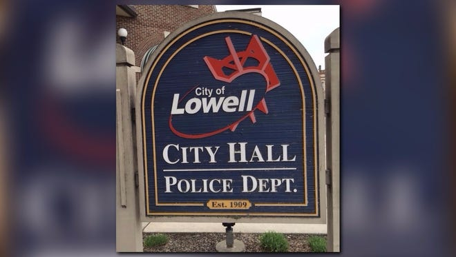Lowell police sign