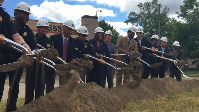 Detroit Police on Tuesday held a groundbreaking ceremony for a new 8th Precinct police station at 21555 West McNichols Road on Tuesday, June 28, 2016.