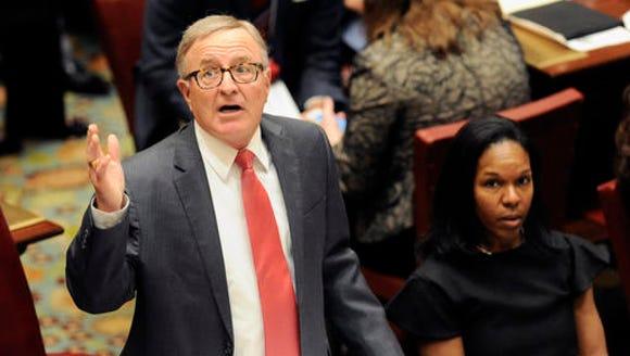 Sen. John DeFrancisco, R-Syracuse speaks to members