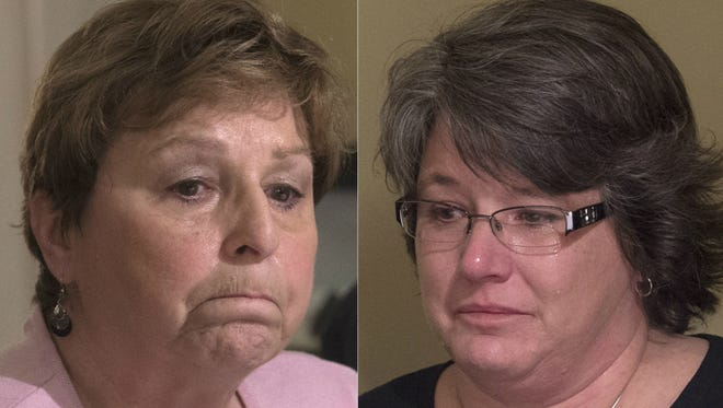 Elaine Miller, left, and Missy Sweitzer