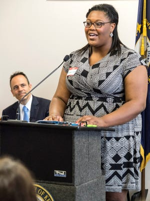 Foster care advocate Glenda Wright speaks with optimism about being selected as one of the hundred youths being provided a summer state job through a newly formed program called Fostering Success. 5/31/16