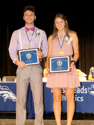 Nico Limoncelli and Tatum Benesh were named Horseheads High School's Athletes of the Year during a ceremony June 6.