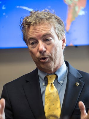 US Senator Rand Paul made a Wednesday afternoon stop at the UPS Flight Training Center for a roundtable discussion with local business leaders on Oct. 11, 2017.