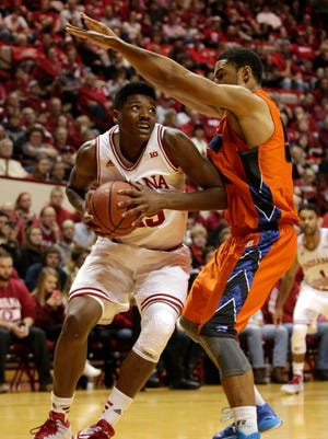 Emmitt Holt (left) and Collin Hartman have provided Indiana much-needed post depth, but they will soon be tested.