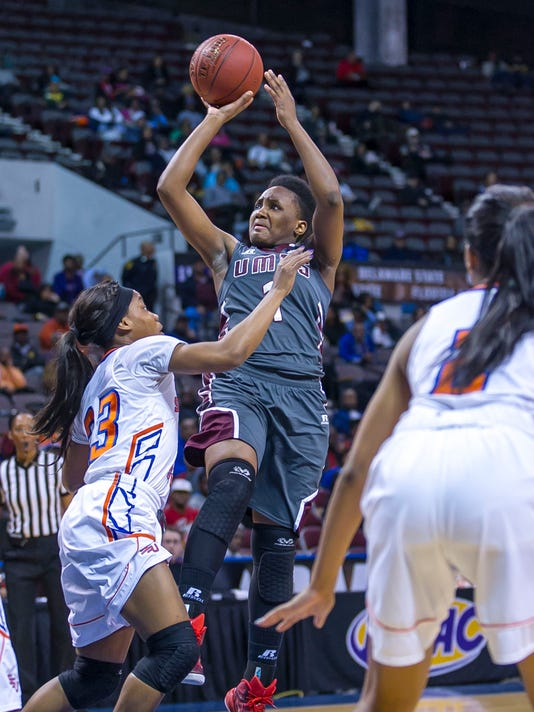 During the 2015 MEAC Women's Basketball Tournament game between Savannah State and UMES