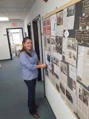 Nikki Narduzzi works part-time at Staunton Downtown Development Association. Photograph taken Wednesday, Oct. 25, 2017.