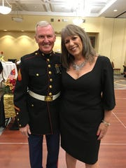 Karina Bland and Pat Connell of the Marine Corps League's