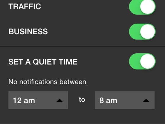 """Customize your """"do not disturb"""" times."""